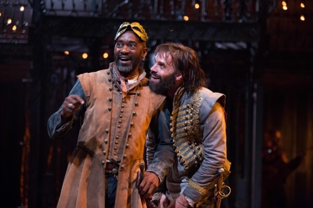 <p>Patrick Robinson as Belvile in the current production of <em>The Rover</em>, pictured with Joseph Millson (left) who plays Willmore.</p><br />Photo by Ellie Kurttz © RSC
