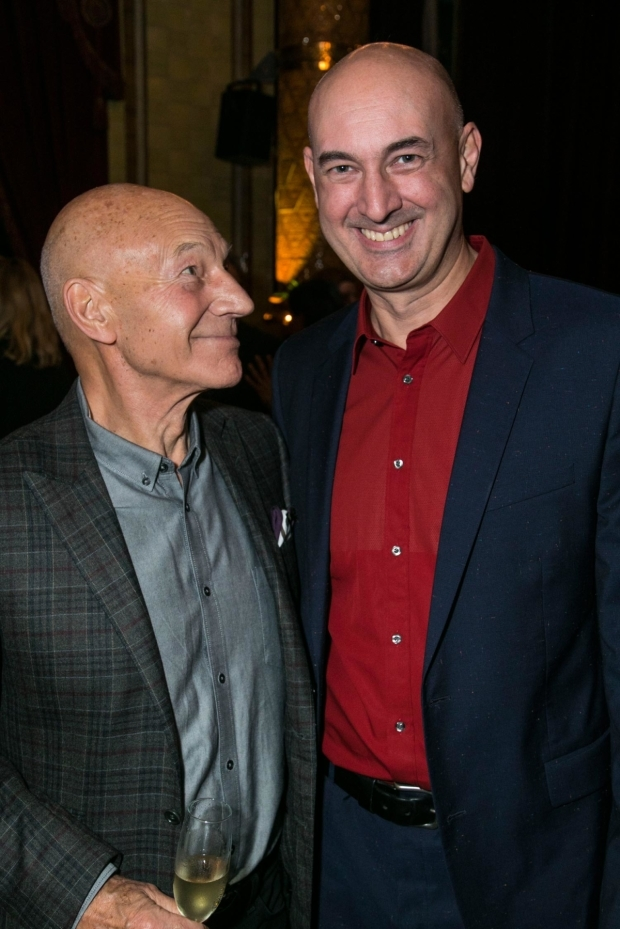 <p>Patrick Stewart and Daniel Stewart</p><br />© Dan Wooller for WhatsOnStage
