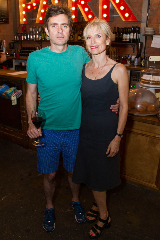 <p>Paul Higgins (Barry/Basil) and Amelia Bullmore</p><br />© Dan Wooller for WhatsOnStage