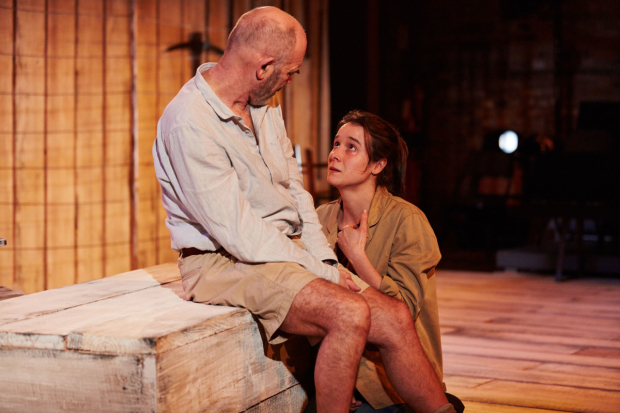 <p>Peter Guinness (Guy), Beatriz Romilly (Chipo)  in <em>After Independence</em></p><br />© Richard Lakos