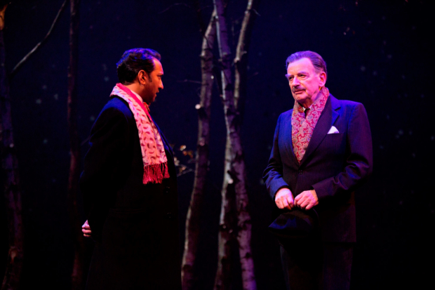 <p>Phaldut Sharma as Sultan and Ian McDiarmid as Enoch Powell in <em>What Shadows</em></p><br />© Ellie Kurttz