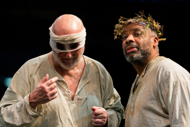 <p>Philip Whitchurch (Earl of Gloucester) and Don Warrington (King Lear) </p><br />© Jonathan Keenan