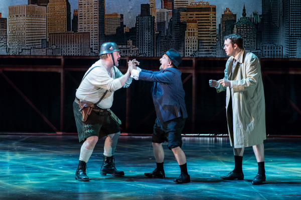 <p>Phill Jupitus as Franz Liebkind, Cory English as Max Bialystock and Jason Manford as Leo Bloom</p><br />Manuel Harlan