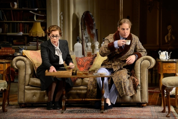 <p>Phyllis Logan as Monica Reed and Samuel West as Garry Essendine</p><br />© Nobby Clark