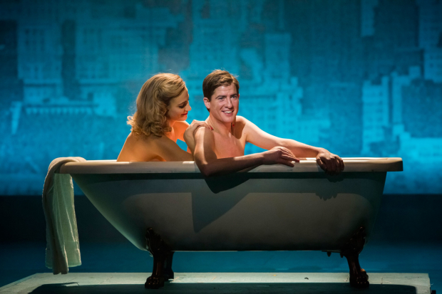 <p>Pixie Lott as Holly Golightly and Matt Barber as Fred in <em>Breakfast at Tiffany&#39&#x3B;s</em></p><br />© Sean Ebsworth Barnes