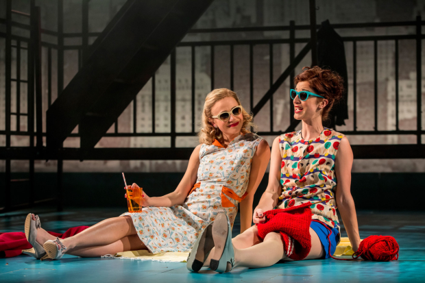 <p>Pixie Lott as Holly Golightly and Naomi Cranston as Mag  in <em>Breakfast at Tiffany&#39&#x3B;s</em></p><br />© Sean Ebsworth Barnes