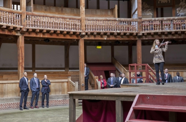 <p>President Barack Obama visits Shakespeare&#39&#x3B;s Globe</p><br />© Pete Le May