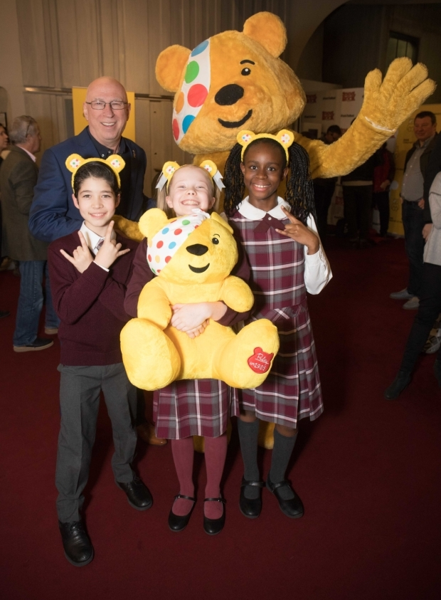 <p>Pudsey and the cast</p><br />© Paul Hampartsoumian