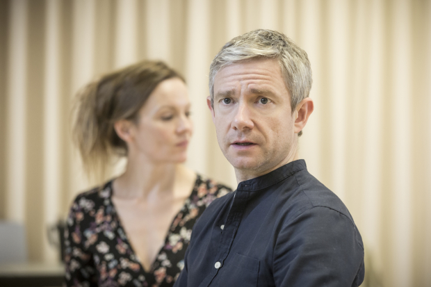 <p>Rachael Stirling and Martin Freeman</p><br />© Marc Brenner