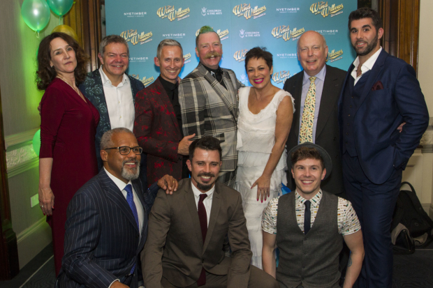 <p>Rachel Kavanaugh (director), Anthony Drewe (music/lyrics), Gary Wilmot (badger), George Stiles (music/lyrics), Neil McDermott (Chief Weasel), Rufus Hound (Mr Toad), Denise Welch (Mrs Otter), Craig Mather (Mole), Julian Fellowes (adaptation) and Simon Lipkin (Ratty)</p><br />© Dan Wooller for WhatsOnStage