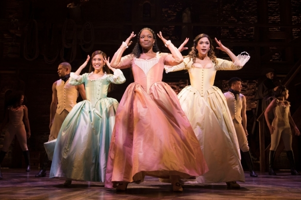 <p>Rachelle Ann Go, Rachel John and Christine Allado as the Schuyler Sisters</p><br />©️Matthew Murphy