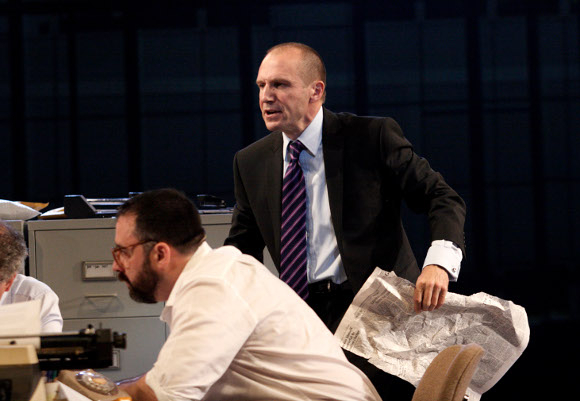 <p>Ralph Fiennes as Lambert Le Roux in <em>Pravda</em> by Howard Brenton &amp&#x3B; David Hare (a role originally played by Anthony Hopkins in the play's premiere at the NT in 1985)</p><br />© Catherine Ashmore