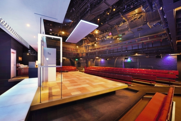 <p>Rear stage at the Donmar Theatre for <em>One Night in Miami</em></p><br />© Peter Dazeley