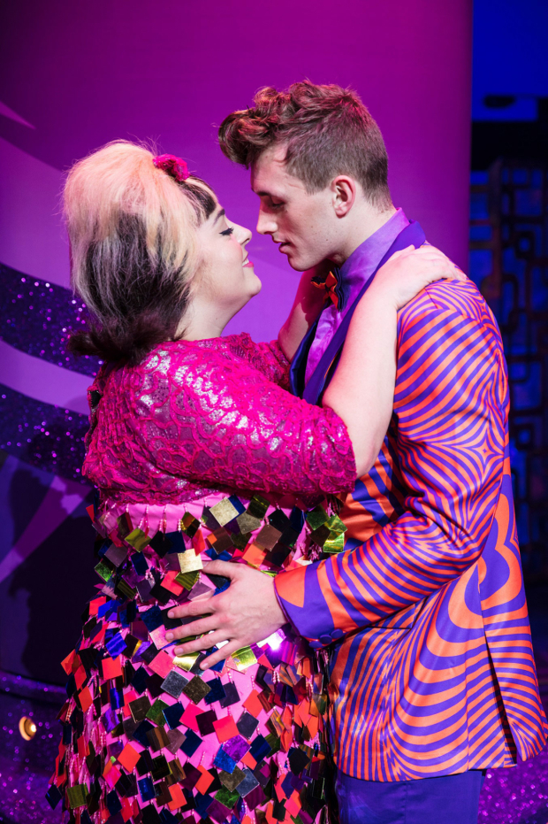 <p>Rebecca Mendoza and Edward Chitticks in <em>Hairspray</em></p><br />© Darren Bell
