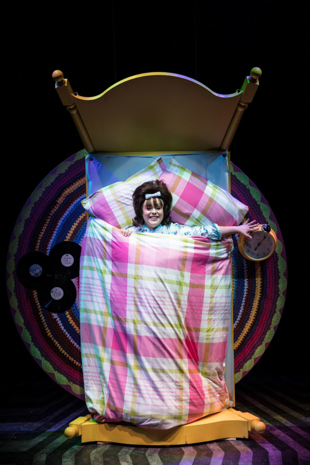<p>Rebecca Mendoza as Tracey Turnblad in <em>Hairspray</em></p><br />© Darren Bell