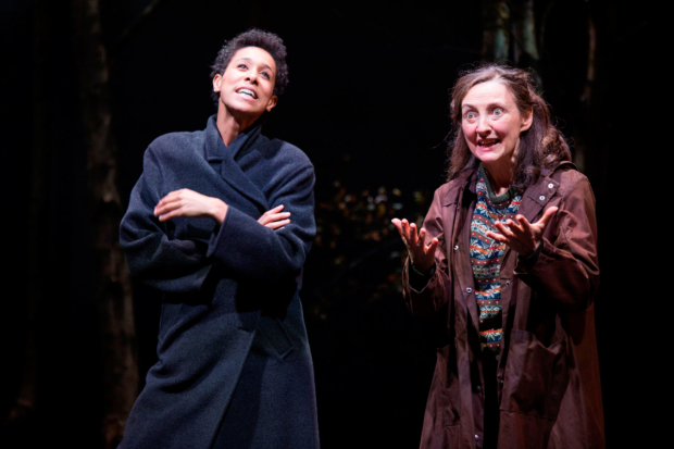 <p>Rebecca Scroggs as Rose Cruickshank and Brid Brennan as Sofia Nicholl in <em>What Shadows</em></p><br />© Ellie Kurttz