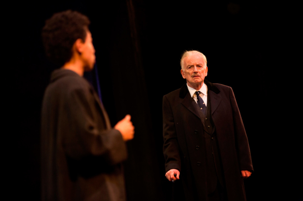 <p>Rebecca Scroggs as Rose Cruickshank and Ian McDiarmid as Enoch Powell   in <em>What Shadows</em></p><br />© Ellie Kurttz