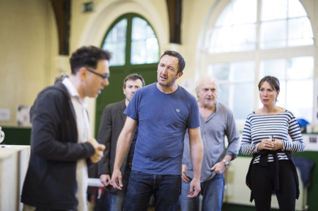 <p>Reece Shearsmith (Syd), Ralph Ineson (Inspector Fry), Simon Rouse (Arthur) and Sally Rogers (Alice)</p><br />© Johan Persson