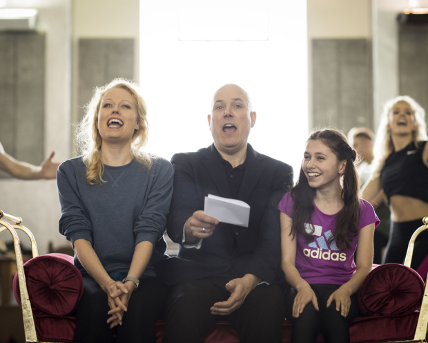 <p>Rehearsals for <em>Annie</em></p><br />© Helen Maybanks