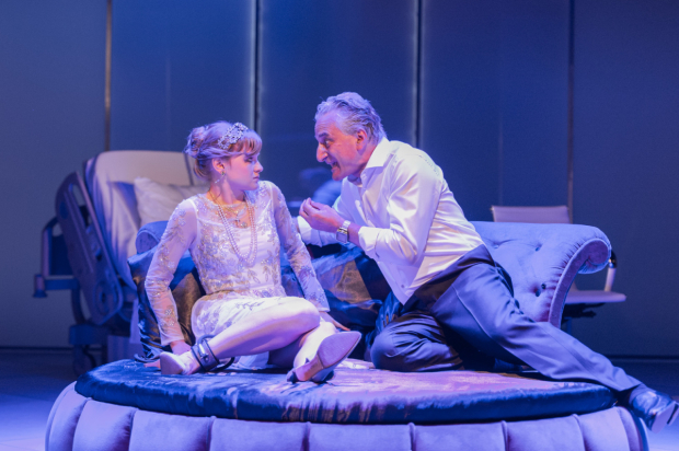 <p>Rhiannon Handy (Celia) and Henry Goodman (Volpone)</p><br />Manuel Harlan