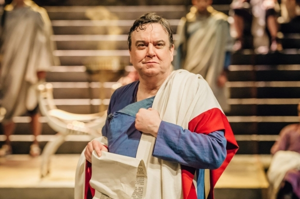 <p>Richard McCabe as Cicero in <em>Imperium Part I- Conspirator</em></p><br />Ikin Yum © RSC