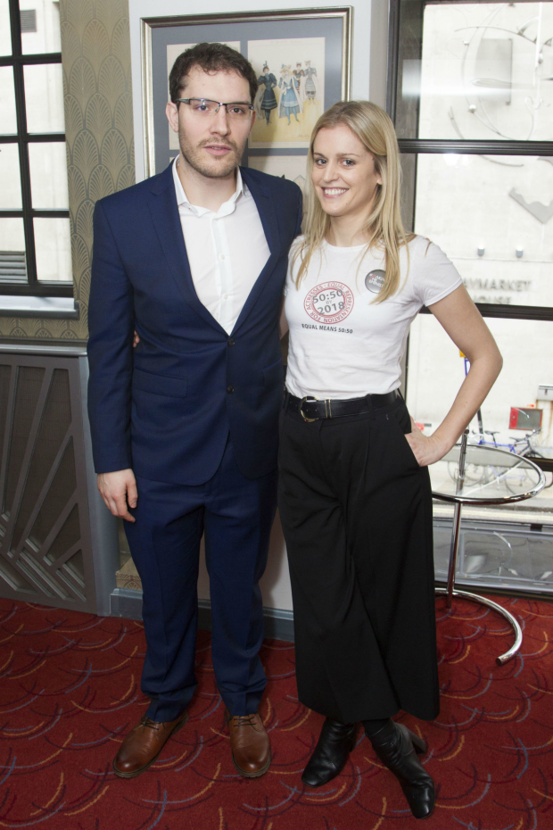 <p>Robert Icke (who won best director for <em>Oresteia</em>) and Denise Gough (who won best actress for <em>People, Places and Things</em>)</p><br />© Dan Wooller