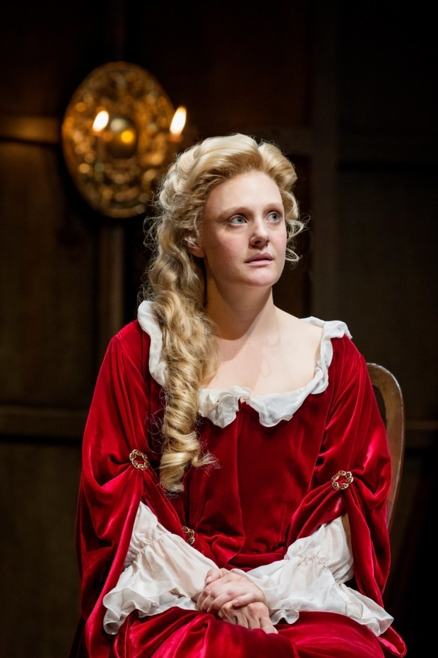 <p>Romola Garai as Sarah Churchill</p><br />© Marc Brenner
