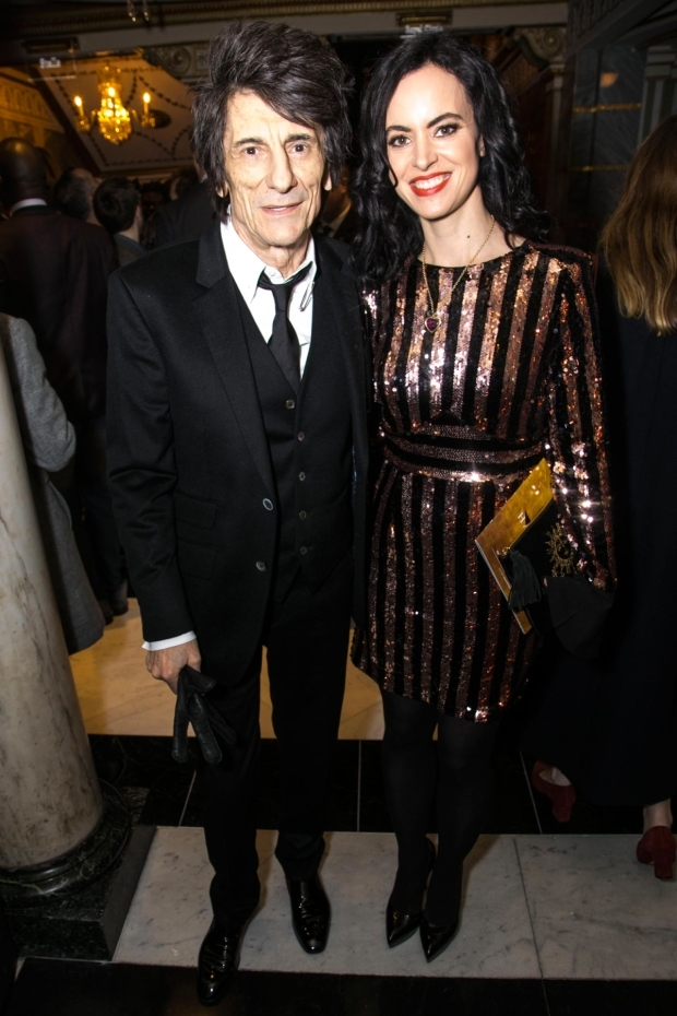 <p>Ronnie Wood and Sally Wood</p><br />© Dan Wooller for WhatsOnStage