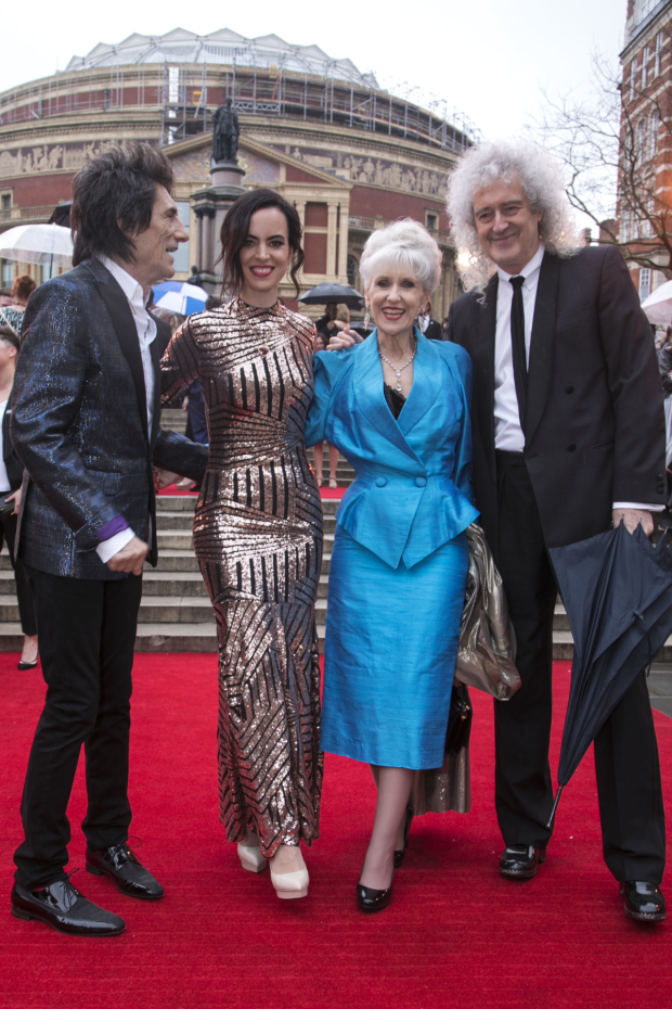 <p>Ronnie Wood, Sally Wood, Anita Dobson and Brian May</p><br />© Dan Wooller