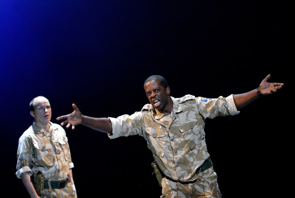 <p>Rory Kinnear as Iago and Adrian Lester as Othello (roles they played at the NT earlier this year)</p><br />© Catherine Ashmore