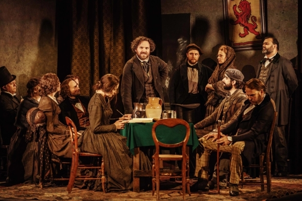 <p>Rory Kinnear (centre) in <em>Young Marx</em></p><br />© Manuel Harlan