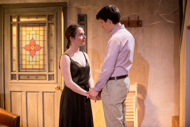 <p>Rosie Sheehy and Charles Reston in <em>Escape the Scaffold</em></p><br />© Aenne Pallasca