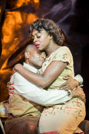<p>Rufus Bonds Jr as Porgy and Nicola Hughes as Bess</p><br />© Johan Persson