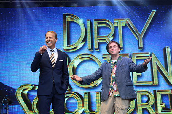 <p>Rufus Hound and Ian Knauer from <em>Dirty Rotten Scoundrels</em></p><br />© Ben Hewis