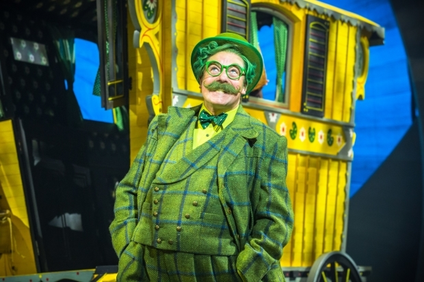 <p>Rufus Hound as Mr Toad in <em>The Wind in the Willows</em>.</p><br />© Marc Brenner/Jamie Hendry Productions
