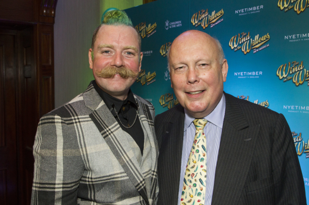 <p>Rufus Hound (Mr Toad) and Julian Fellowes (adaptation)</p><br />© Dan Wooller for WhatsOnStage