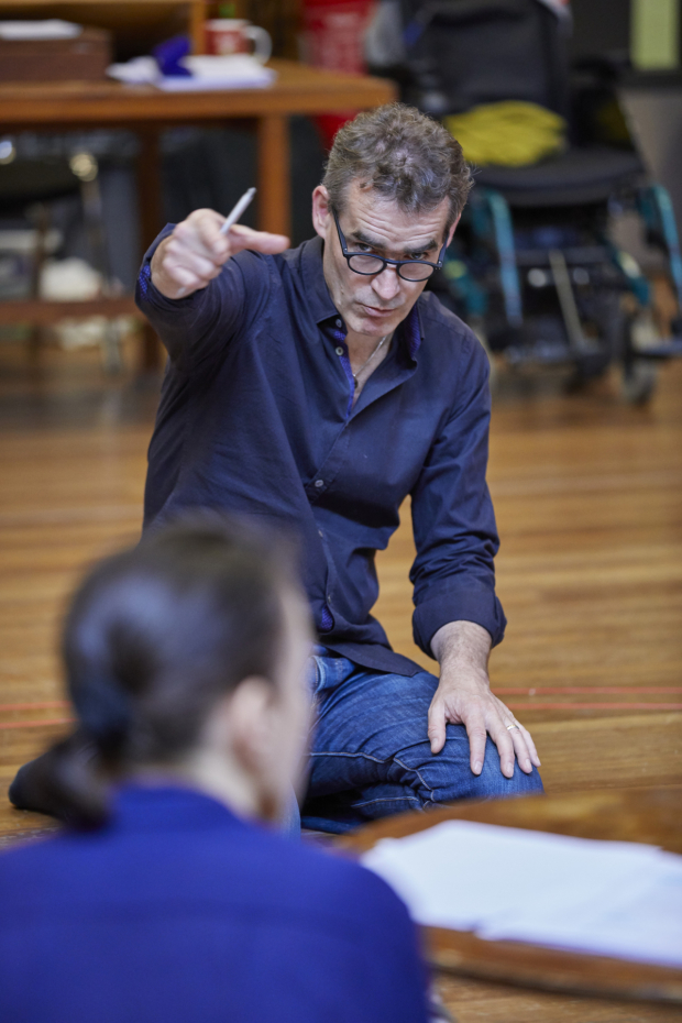 <p>Rufus Norris in rehearsals for <em>Mosquitoes</em></p><br />© Brinkhoff/Moegenburg