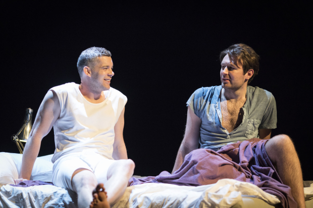 <p>Russell Tovey (Joseph) and James McArdle (Louis) in  <em>Angels In America: Perestroika</em> </p><br />©  Helen Maybanks