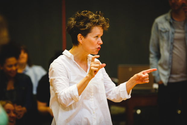 <p>Sally Cookson (director) in rehearsals for <em>Peter Pan</em></p><br />© studio@stevetanner.co.uk