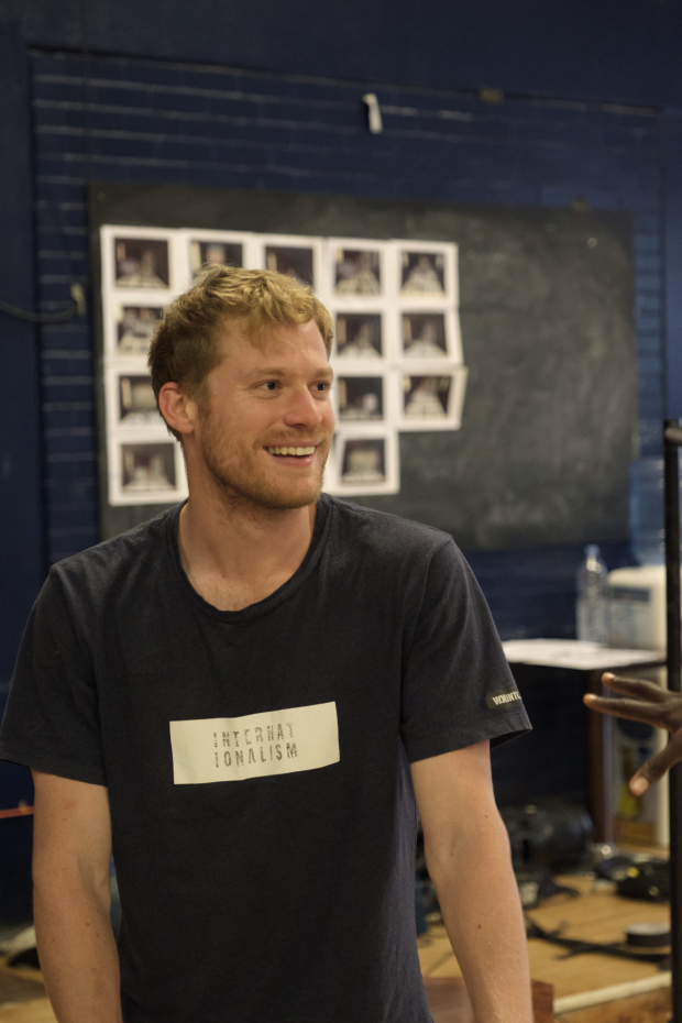 <p>Sam Reid in rehearsals for <em>Girl from the North Country</em></p><br />© Manuel Harlan