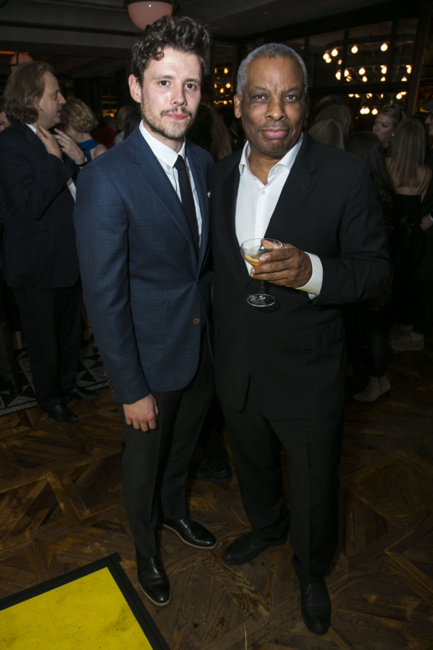 <p>Sam Yates (director) and Don Warrington (George Aaronow)</p><br />© Dan Wooller for WhatsOnStage