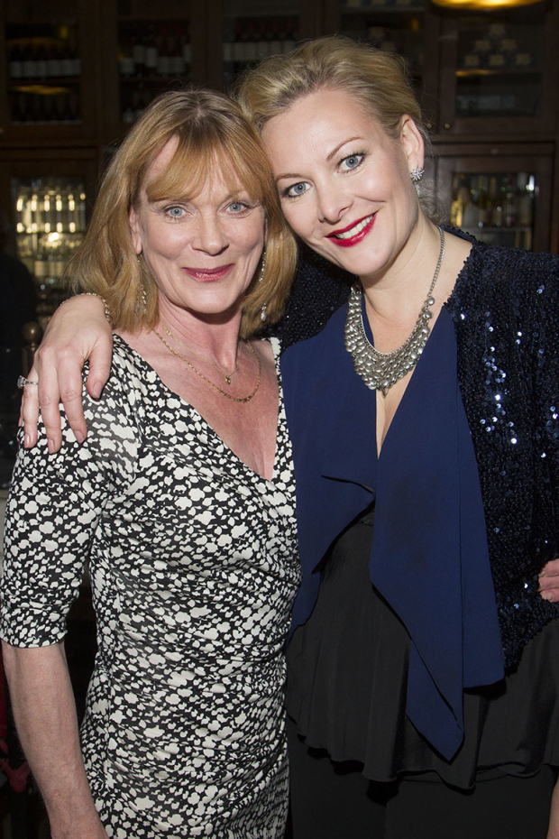 <p>Samantha Bond and Sara Stewart</p><br />© Dan Wooller for WhatsOnStage
