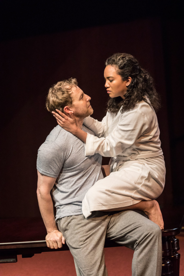 <p>Samuel West  as Brutus, Chipo Chung as Portia</p><br />© Johan Persson