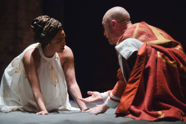 <p>Sandy Grierson and Chipo Chung in <em>Dido, Queen of Carthage</em></p><br />© Topher McGrillis