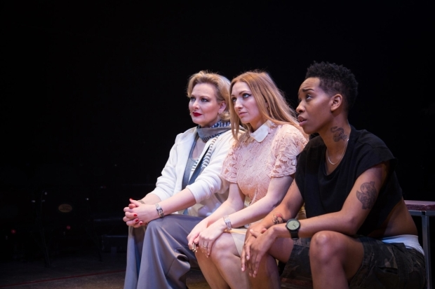 <p>Sara Stewart (Betty 1) Lucy McCormick (Betty 2) and Genesis Lynea (Betty 4) in <em>Collective Rage</em></p><br />© Jack Sain