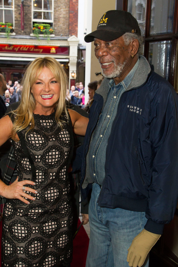 <p>Sarah Hadland and Morgan Freeman</p><br />© Dan Wooller
