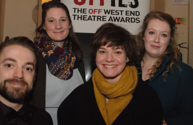 <p>Sarah Loader and the team from <em>Teddy</em> at Southwark Playhouse (Winner Best New Musical)</p><br />© Anthony Ofoegbu