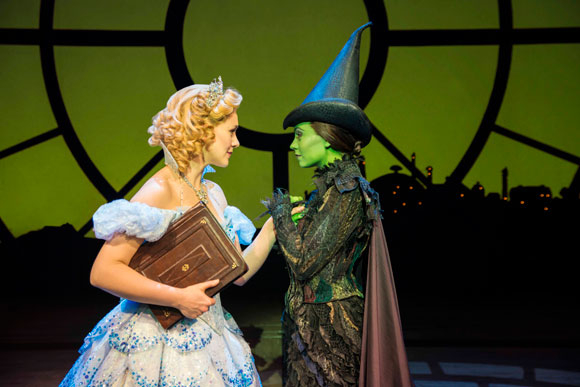 <p>Savannah Stevenson as Glinda and Emma Hatton as Elphaba</p><br />(© Matt Crockett)