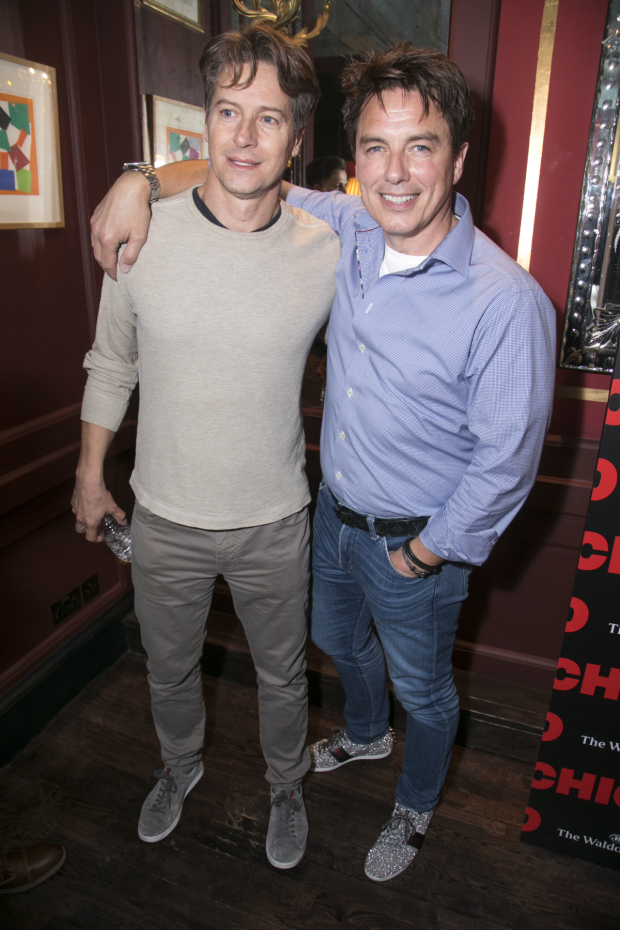 <p>Scott Gill and John Barrowman</p><br />© Dan Wooller for WhatsOnStage