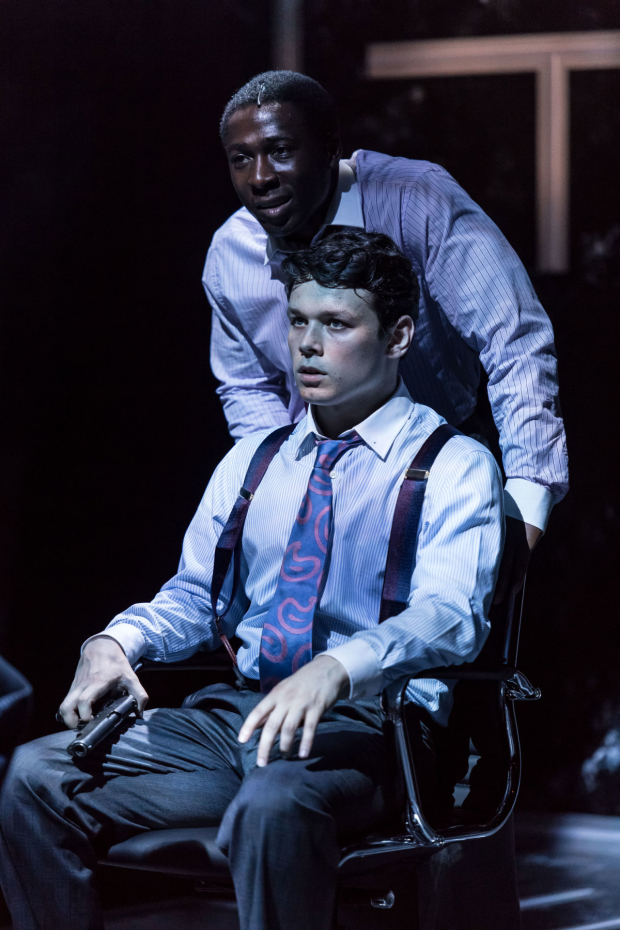 <p>Sean Delaney (John) and Eric Kofi Abrefa (Rick) in <em>Labyrinth</em> </p><br />© Manuel Harlan